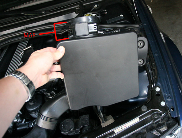 Clean your maf the web page of kris linquist step 4 with the airbox out of the car you remove the maf by using your flat bladed screwdriver to pry these retaining clips out of the way two of them asfbconference2016 Choice Image